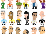 Drawing 8 Bit Characters Breaking Bad Characters as 8 Bit Pixel Art Pixel Art Breaking