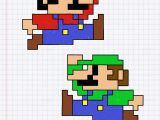 Drawing 8 Bit Characters Pin by Maryann Dejager On 8bit Crochet Graph Paper Mario Luigi