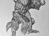 Drawing 9f Ballpoint Pen Drawing Of A Deathclaw From Fallout 4 My Art