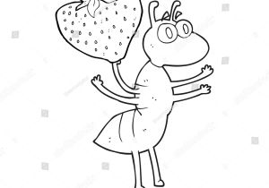 Drawing A Cartoon Ant Freehand Drawn Black White Cartoon Ant Stock Vector Royalty Free