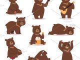 Drawing A Cartoon Bear Cartoon Bear Vector Set by Vectorstockerland On Creativemarket