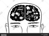 Drawing A Cartoon Brain Hand Drawn Head Man Vector Photo Free Trial Bigstock