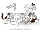 Drawing A Cartoon Caterpillar Vector Black White Cartoon Line Drawing Stock Vector Royalty Free