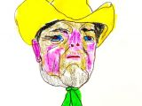 Drawing A Cartoon Cowboy Cowboy Dream Print Etsy