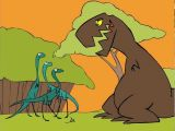 Drawing A Cartoon Dinosaur T Rex Cartoon Dinosaur Animation Youtube