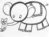 Drawing A Cartoon Elephant Step by Step Learn How to Draw Easy In This Drawing You Can Learn to Draw the