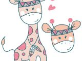 Drawing A Cartoon Giraffe Plottervorlage Boho Giraffe Alle Plottervorlagen Digitale