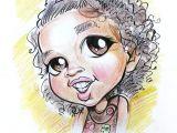 Drawing A Cartoon Girl Face Cute Caricature for A Little Girl My Caricatures Caricature