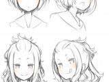 Drawing A Cartoon Girl Face Pin by Megan Foxx On Gems Drawings Anime Hair Manga Drawing