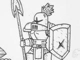 Drawing A Cartoon Knight Knight Art Sketch Fantasy Fantasyart Ink Crusader Knight