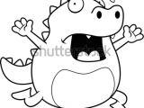 Drawing A Cartoon Lizard Cartoon Lizard Running Panic Stock Vector Royalty Free 229828270