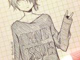 Drawing A Cartoon Manga Cute Anime Drawing tootokki I Have issues Sweater Anime Drawings