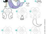 Drawing A Cartoon Mermaid How to Draw A Mermaid Kid Scoop How to Draw People Drawings