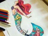 Drawing A Cartoon Mermaid Little Mermaid Under Water Cartoon Movie Pinterest Disney Art