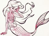 Drawing A Cartoon Mermaid Mermaid Skeleton Pictures Google Search Circus Freak Shit