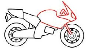 Drawing A Cartoon Motorcycle Drawing A Cartoon Motorcycle Illustration Drawings Motorcycle