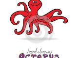 Drawing A Cartoon Octopus Hand Drawn Cute Octopus with Big Eyes and Happy Smile Fun Cartoon