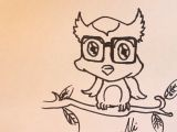 Drawing A Cartoon Owl How to Draw A Baby Owl Cartoon Please Watch This In Youtube for
