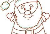 Drawing A Cartoon Santa Easy Instructions for How to Draw Santa Clause for Kids I M Crafty