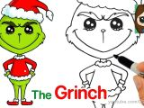 Drawing A Cartoon Santa How to Draw the Grinch Easy Kids Fun Stuff Pinterest Cute