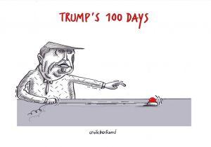 Drawing A Cartoon Strip Trump at 100 Days Cartoon Views From Around the World