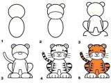 Drawing A Cartoon Tiger How to Draw A Tiger Games Art for Kidos Pinterest Drawings