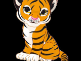 Drawing A Cartoon Tiger White Tiger Cub Pictures Tiger Cubs Cute Cartoon Animal Images