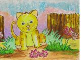 Drawing A Cat Youtube Easy Scenery Drawing How to Draw A Cat In the Garden Step by Step