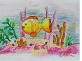 Drawing A Cat Youtube Easy Scenery Drawing How to Draw Under Water Fish Swimming Step by