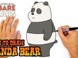 Drawing A Cat Youtube How to Draw Panda Bear We Bare Bears Youtube