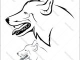 Drawing A Dog In Illustrator Vector Illustration Wolf Head On A White Background Download A