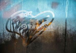 Drawing A Heart On Window Stock Photo Heart Drawing On Window Li Title Pics Pinterest