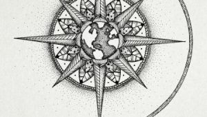 Drawing A Heart with A Compass Mandala Compass Google Search Tattoos Tattoos Compass Tattoo