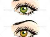 Drawing A Set Of Eyes Set Of Woman Eye Vectors In Three Color Schemes and Transparent