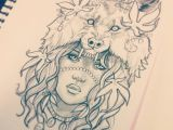 Drawing A Wolf Girl Photo From Gimiksborn Drawings Tattoos Tattoo Drawings Tattoo
