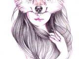 Drawing A Wolf Girl Tattoo Drawings Art Art Drawings
