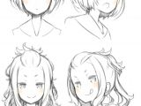Drawing An Anime Girl Face Pin by Megan Foxx On Gems Drawings Anime Hair Manga Drawing