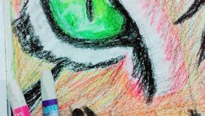 Drawing An Eye In Pastel Loin Eye Oil Pastel Drawing My Art Work Pinterest Oil Pastel