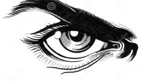 Drawing Angry Eye Angry Eye Stock Illustration Illustration Of Sketch 92561167