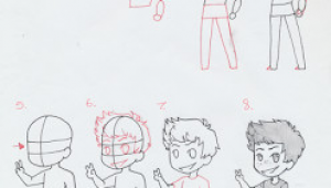 Drawing Anime Boy Body Manga Interest Chibi Boy Standing How to Draw A Chibi Boy