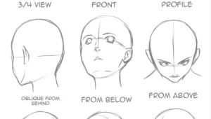 Drawing Anime Faces From Different Angles Good for Perspective Craft Cooking Ideas Drawings Drawing Tips