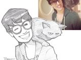 Drawing Anime From Real Life Illustrator Turns Strangers Into Anime Characters Bored Panda