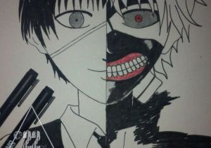 Drawing Anime Kaneki Kaneki Ken tokyo Ghoul Draw Pinterest tokyo Ghoul