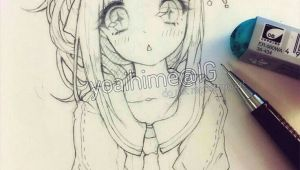Drawing Anime Lady Kawaiiiii Anime Girl Drawing Sketch In 2019 Pinterest Drawings