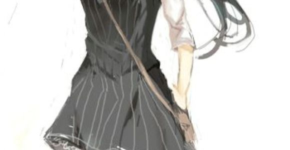 Drawing Anime Long Hair Pretty Female Character with Long Black Hair and Short Black Dress