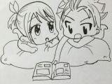 Drawing Anime Natsu Nalu Chibi Fairytail Nalu Chibi Mangadrawing Manga Love Art
