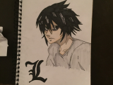 Drawing Anime Notes L From Death Note Drawings In 2018 Pinterest Anime Art Death