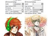 Drawing Anime Using Paint tool Sai 81 Best Paint tool Sai Brush Settings Images Painting tools