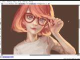 Drawing Anime Using Paint tool Sai Speedpaint Paint tool Sai Glasses Youtube