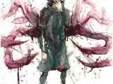 Drawing Anime Using Watercolor Ken Kaneki tokyo Ghoul Anime Watercolor Painting by